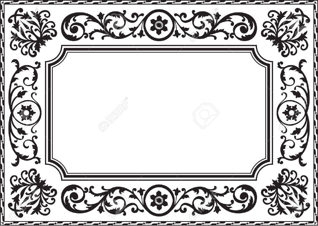 Cadre Baroque Noir Et Blanc Transferts Pinterest Cadre