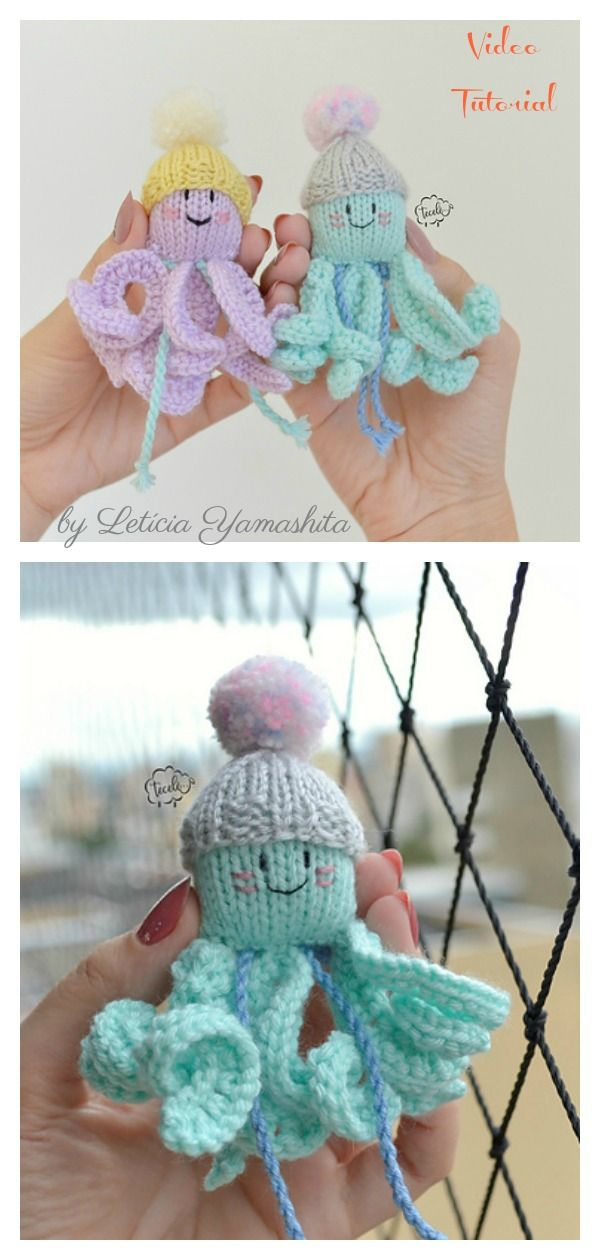 Octopus Soft Toy Knitting Patterns