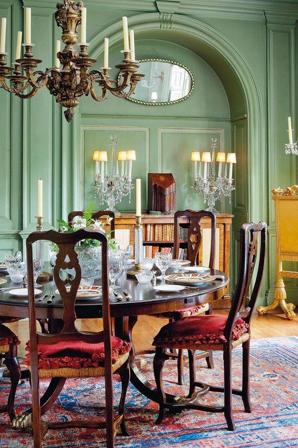 interior life  green dining room elegant dining room