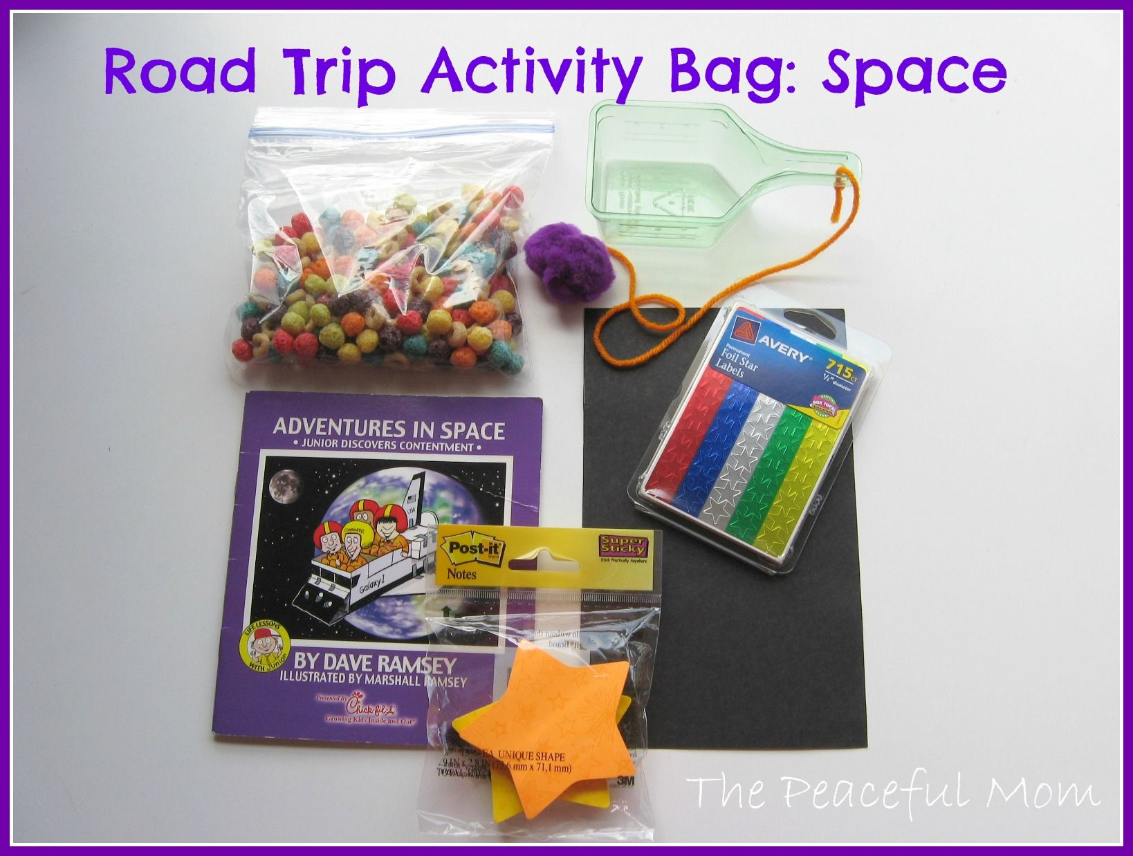 Road Trip Activity Bag- Space-- The Peaceful Mom