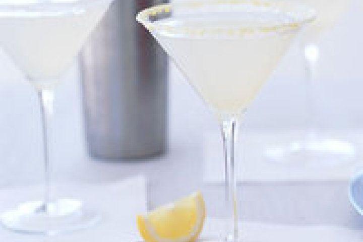 Basil-Lemon Vodka Martini