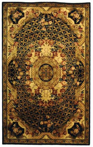 Safavieh Classic Cl304a Black Gold Area Rug Clearance With