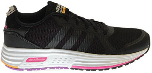 Adidas  mujer 's cloudfoam shock Flyer negro / rosa zapatillas B (m