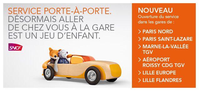 SNCF service porte-à-porte : voiture ou taxi en gare à prix fixe