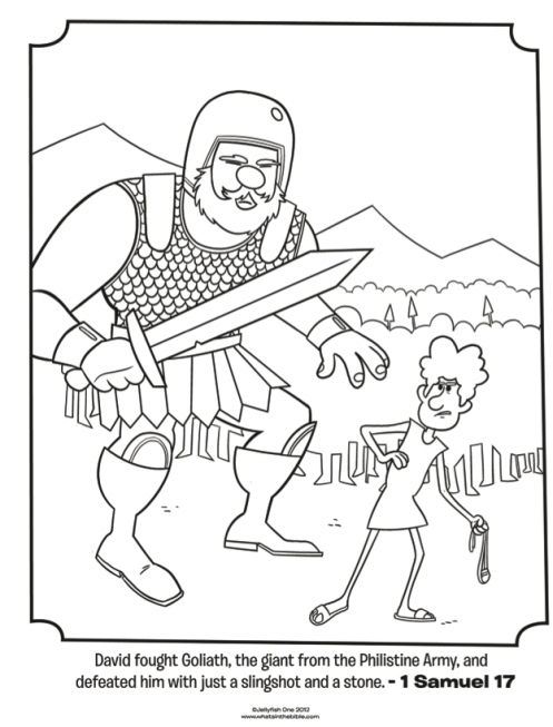 Kids coloring page from Whats in the Bible featuring David and