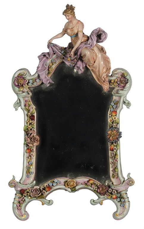 Quot A Dresden Porcelain Figural Dressing Table Mirror Quot By