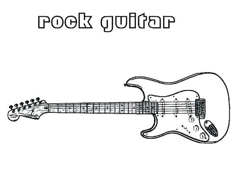 Guitar Coloring Pages Printable Di 2020