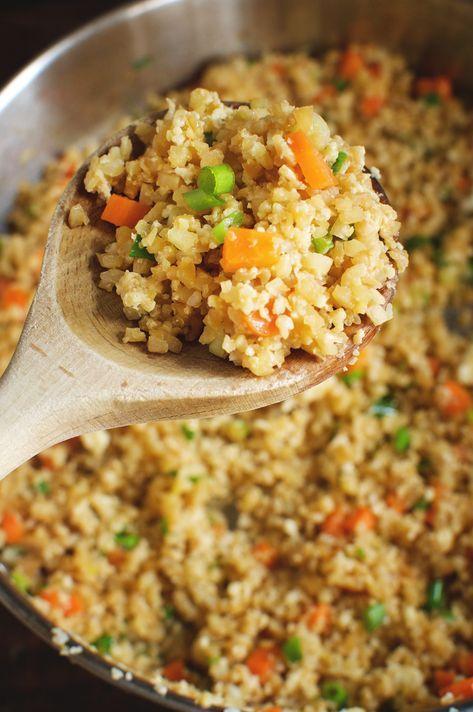 Easy Low-Carb Cauliflower Fried Rice Recipe - Simp