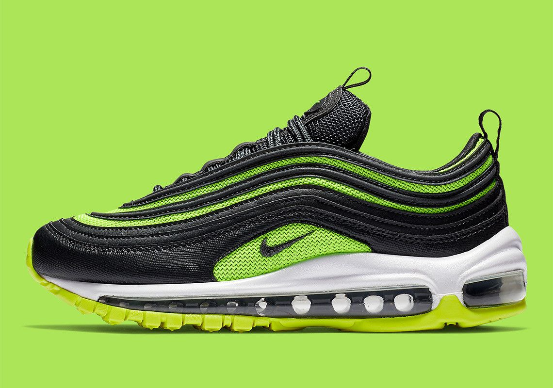 Nike Air Max 97 Black + Neon Green 921733 014 | Sneakers For