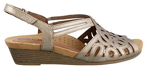 a9591140da92 Rockport Cobb Hill Womens Helen CH Wedge SandalPewter9 N US     You can  find more details by visiting the image link.