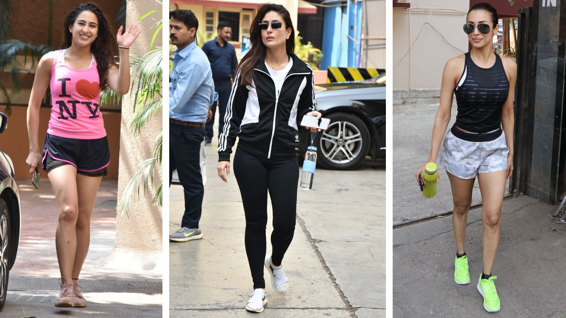From Janhvi Kapoor S Signature Shorts And Tee Look To Malaika Arora S Spunky Sports Bras Vogue Rounds Up Fitness Wear Women Bollywood Celebrities Vogue India
