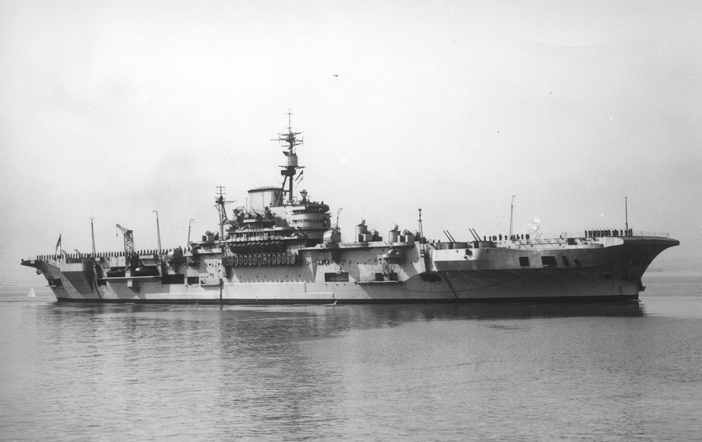 HMS Implacable (R86) was an Implacable-class aircraft carrier built for the Royal Navy during World War II.