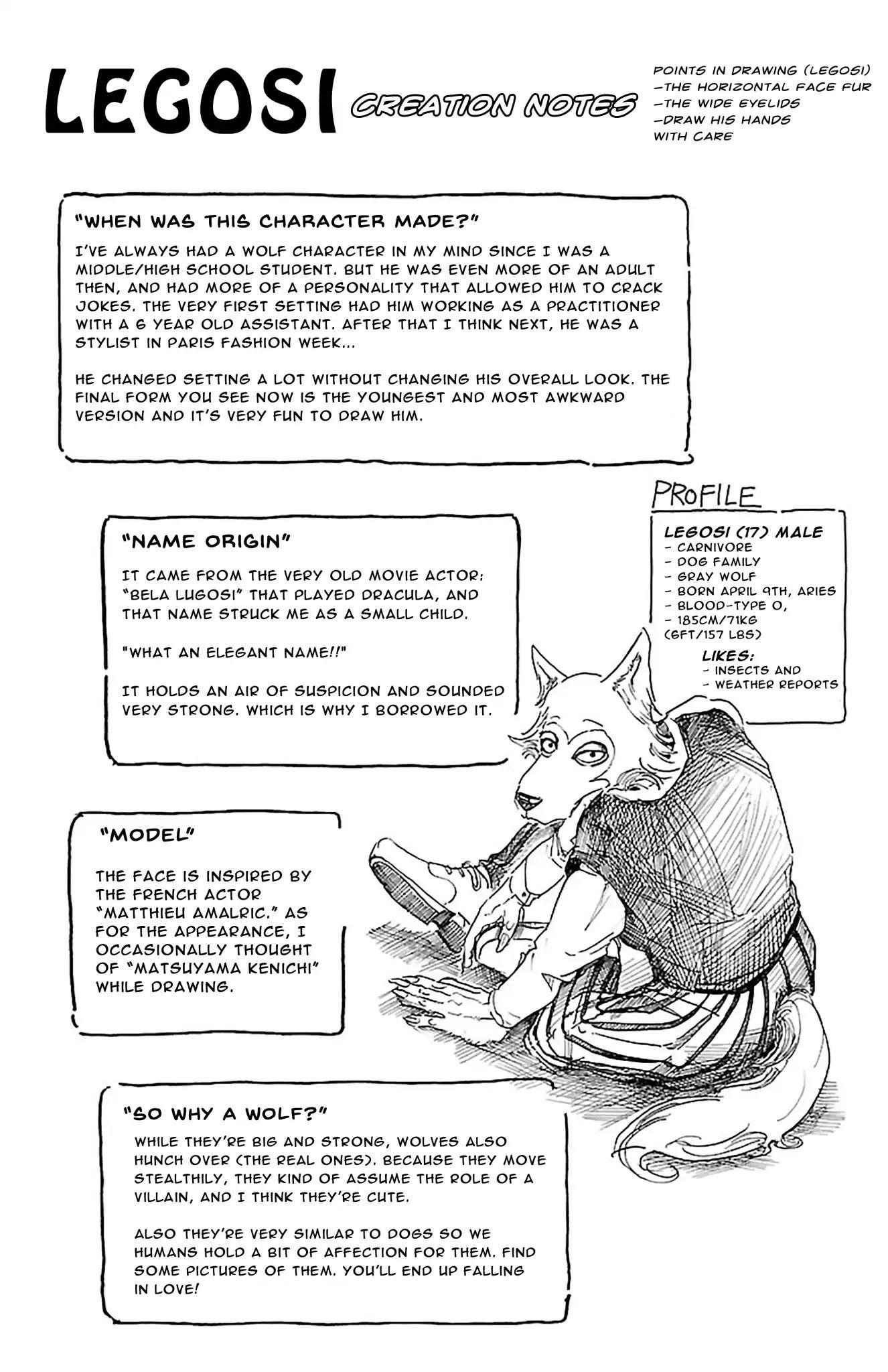 Beastars chapter 75 volume 1 omake page 2 manganelo