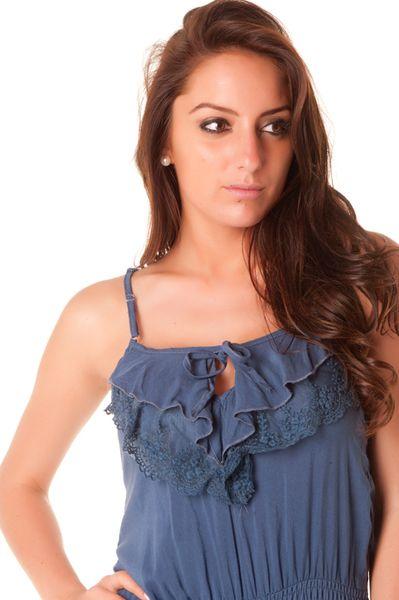 Combi-short très pas cher en bleu avec dentelle au dos. vêtement pas cher 124  Prix   7.12 € 125536b63cf