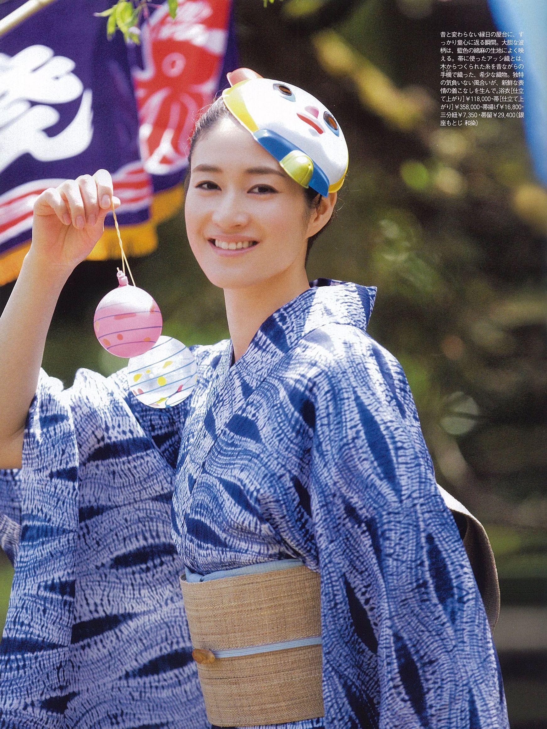 2011年7月 Precious 小雪さん 綿麻絞り浴衣、アッシ織帯 p35 綿麻 ...
