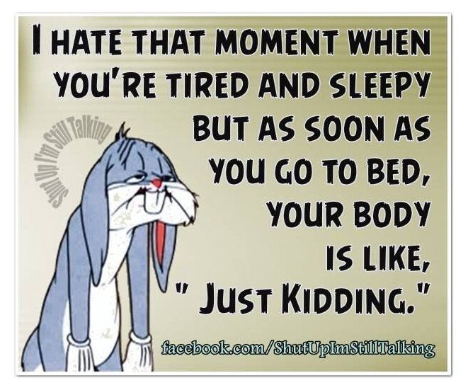 too tired to sleep quotes funny