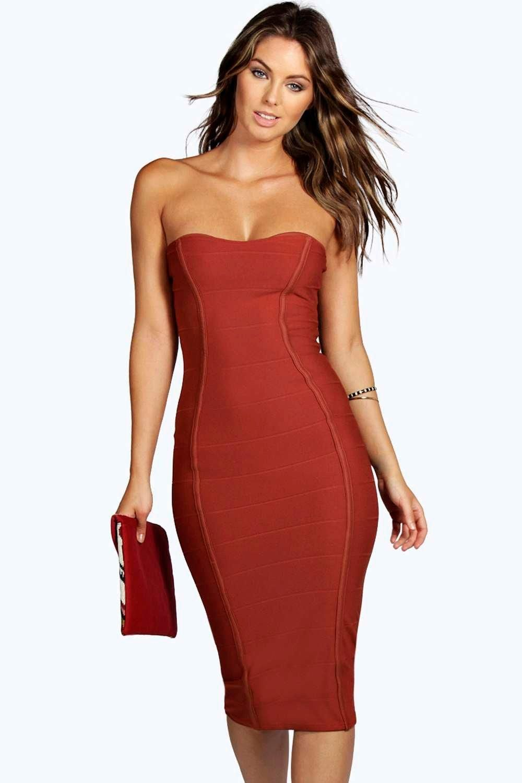 8135950c2f9 Gia Bandeau Bandage Midi Bodycon Dress