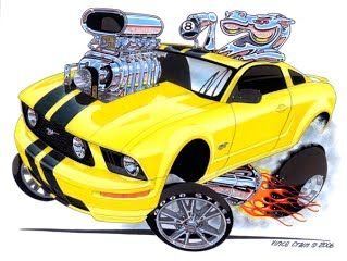 2005 Mustang Gt Horse Power Classic Muscle Car Drawing By Vince
