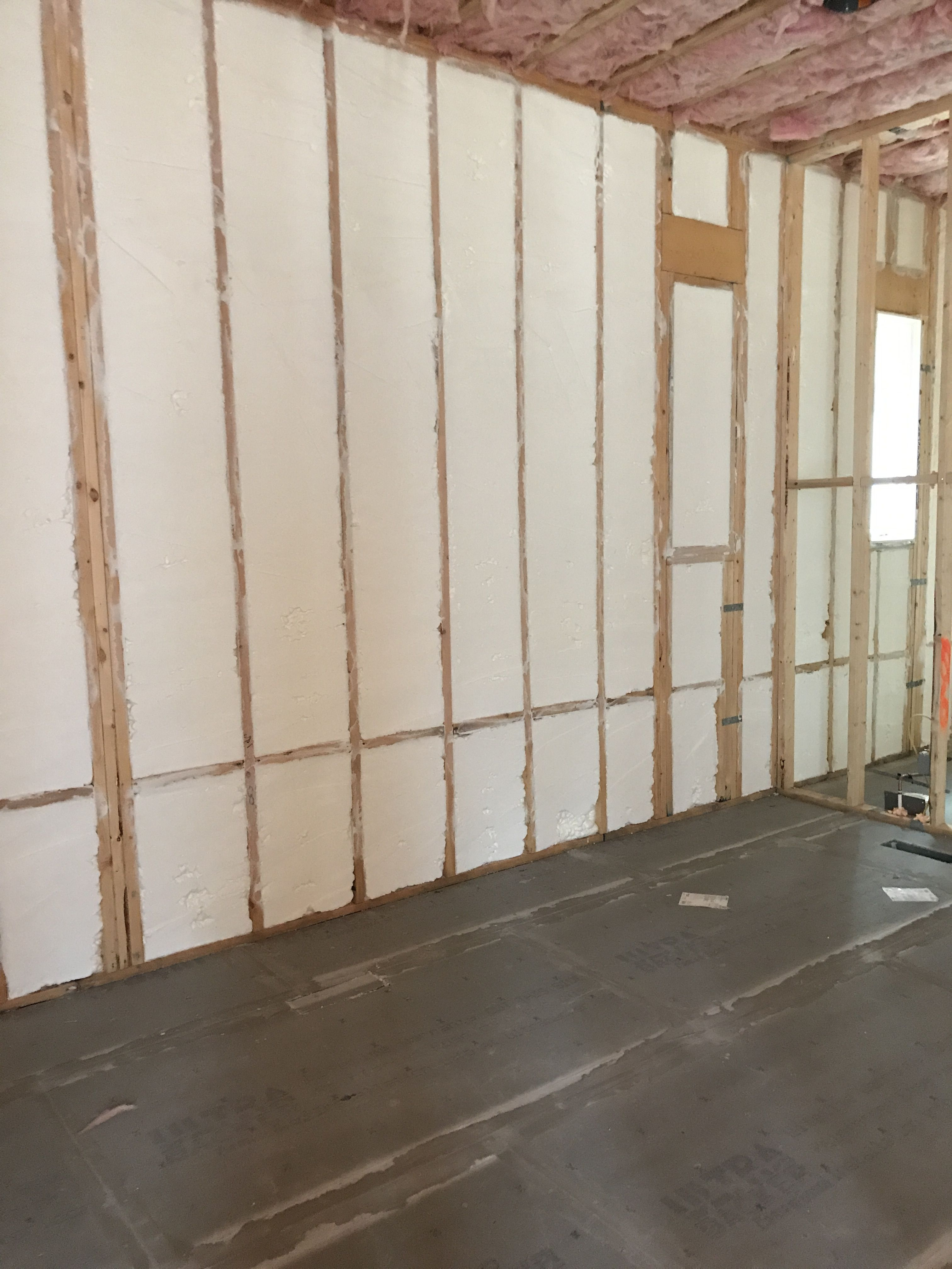 Hybrid Spray Foam On The Exterior Walls And Fiberglass On The