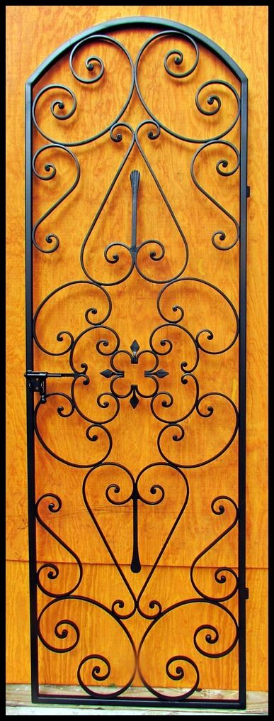 Forged Scroll Iron Wine Cellar Door Or Gate Tall 94 For 8 Foot
