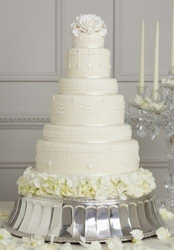 Peggy Porschen Tall White Wedding Cake