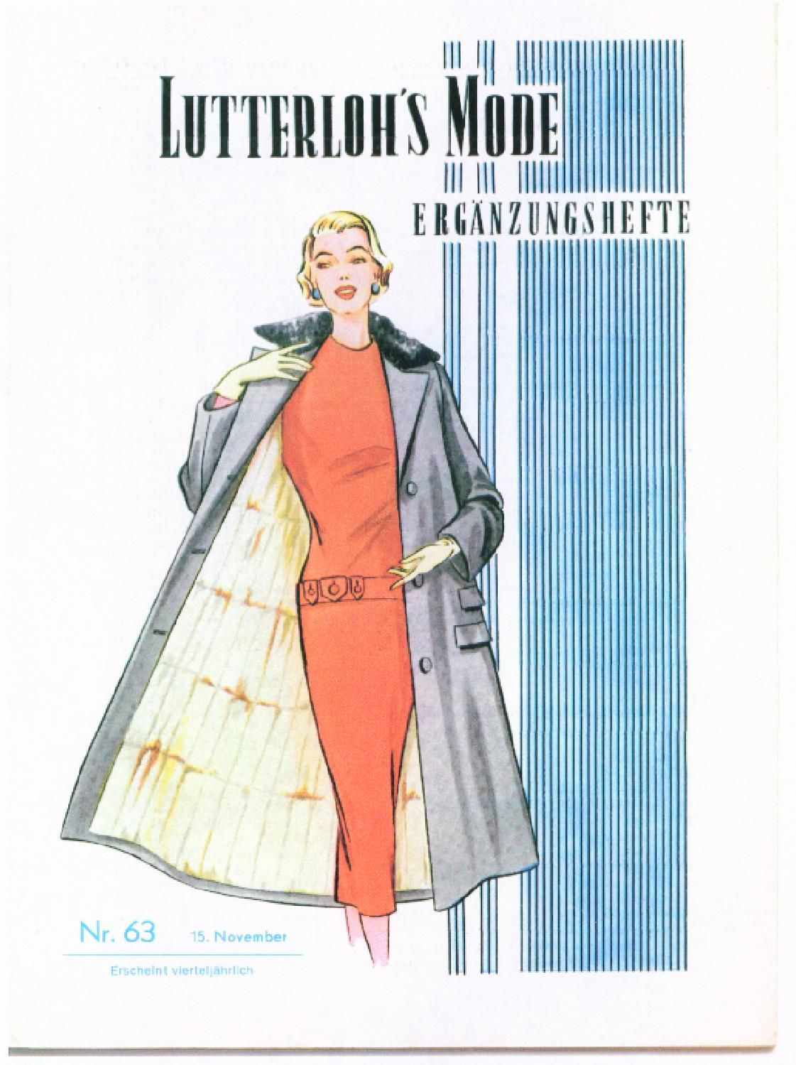 63 Winter Outfit Ideas From New York Fashion Week Fall: Vintage Lutterloh Sewing Patterns 63 Winter 1956