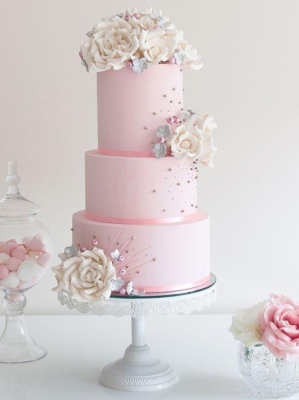 Thepastelcorner Pastelrosy Blog Following Back Similar Blogs - Pastel Pink Wedding Cake