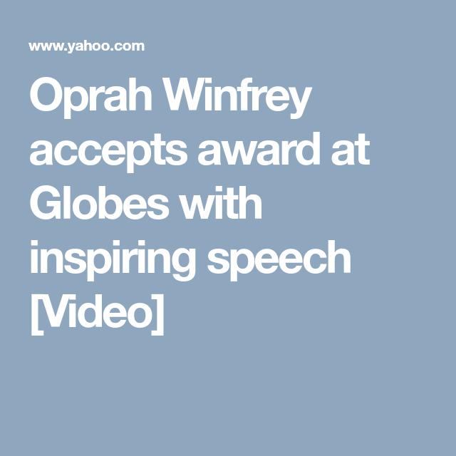 Oprah Winfrey accepts award at Globes with inspiring speech [Video]