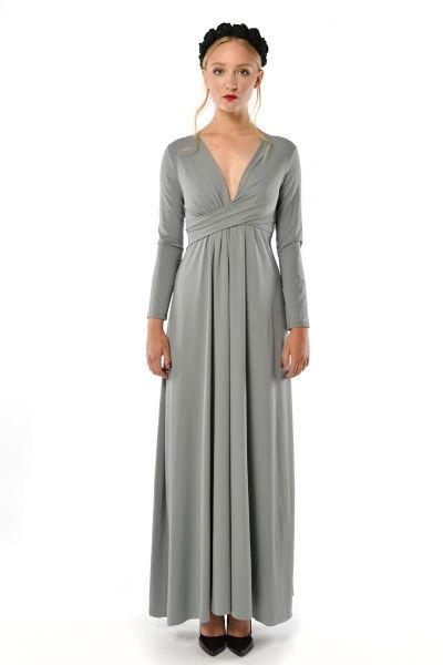 86a8aa6b62 Magdalena Patria Grey- szara sukienka maxi