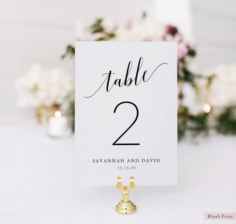 Wedding Table Number Cards Template Printable Table Numbers Etsy Wedding Table Numbers Printable Wedding Table Numbers Signing Table Wedding