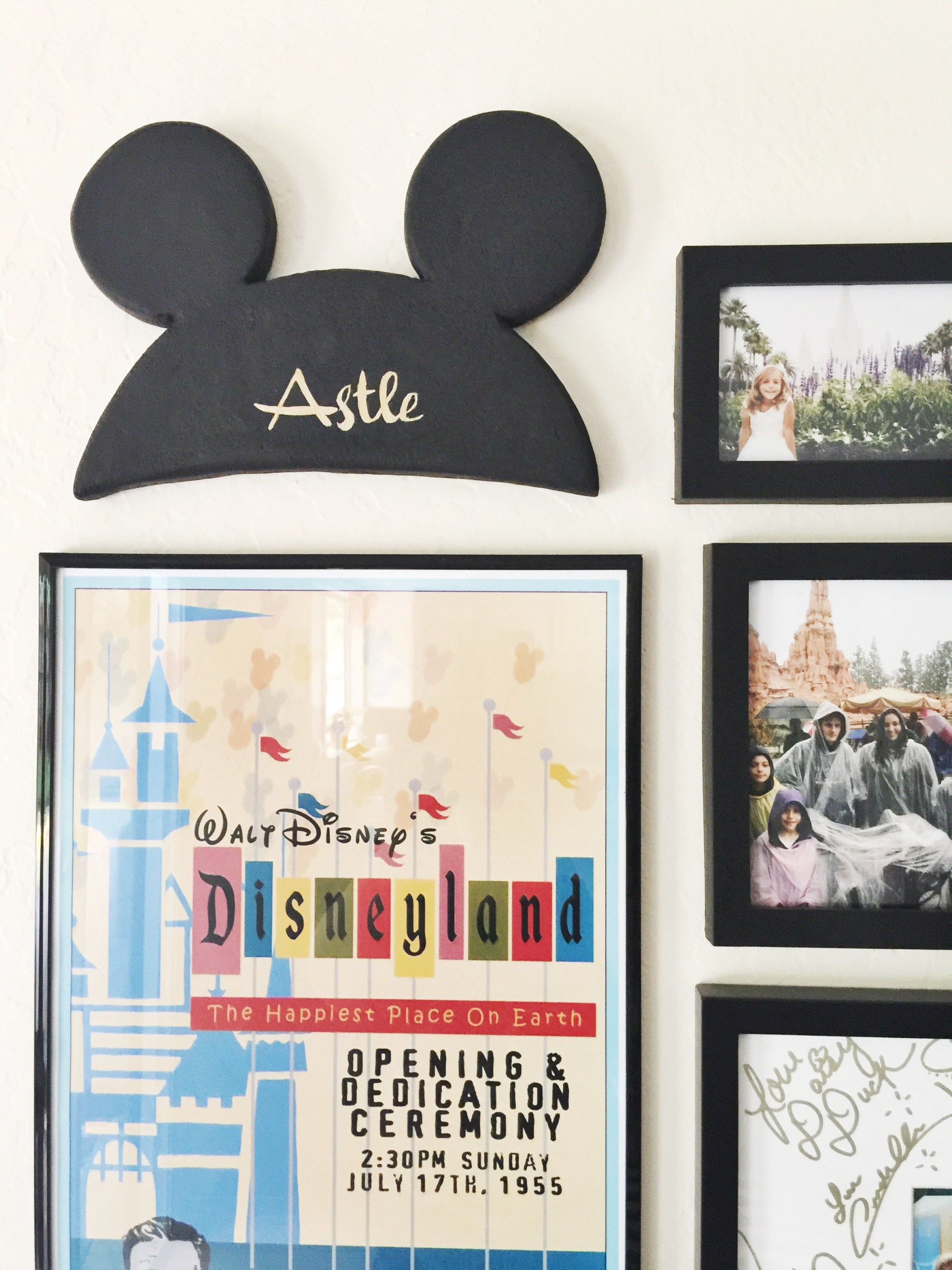Personalized Mickey Ears Wall Art - Jolly & Happy