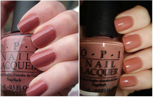 Lovely rosy brown/leather colored nail colors from OPI