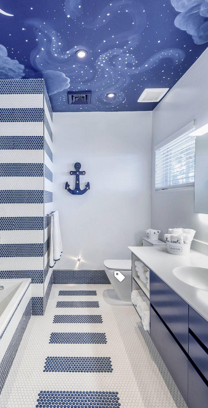 Coastal Style Badezimmer #maritimedeko #maritim   Maritime Deko fürs ...
