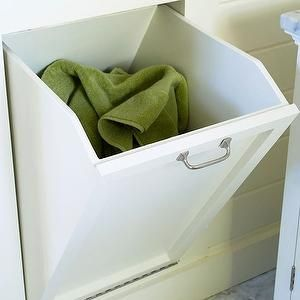 Bhg bathrooms tilt out bin tilt out laundry bin for Marble bathroom bin