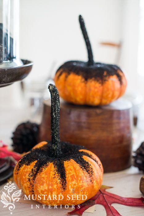 black glittered pumpkins & more - Miss Mustard Seed