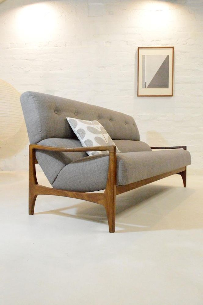Mid Century Modern G Plan Rosewood Danish Sofa Vintage 50s 60s Mid Century Modern Furniture Living Room Decor Inspiration Mid Century Modern Sofa Bed