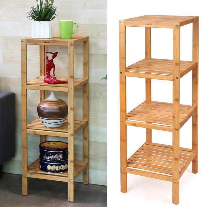 4 Tier Bamboo Wooden Kitchen Bath