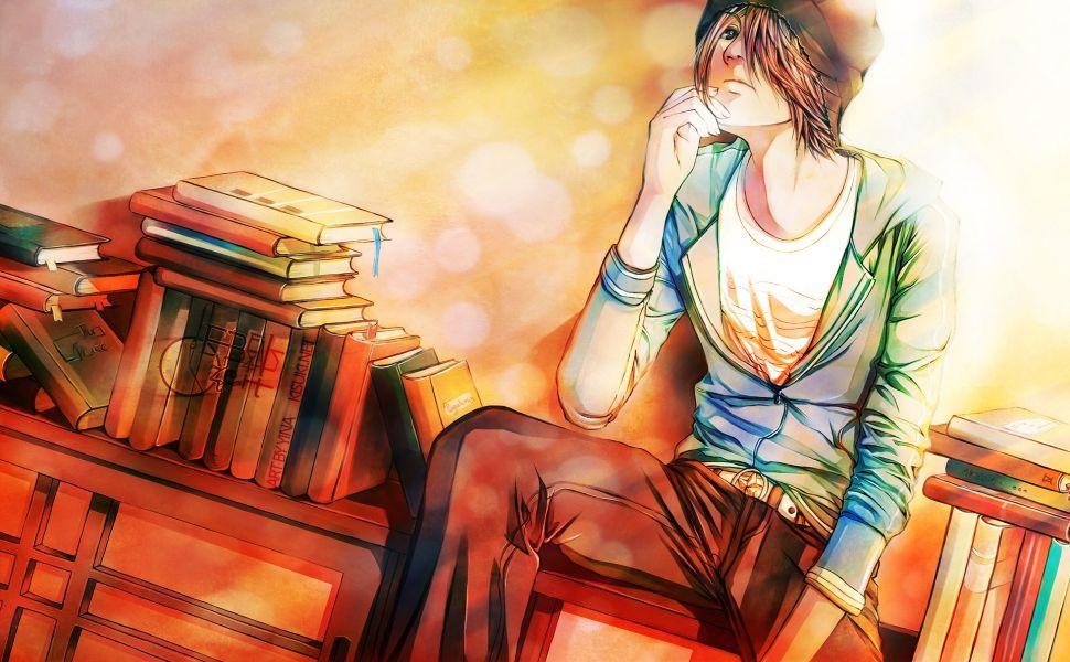 Anime boy brown hair hd wallpaper anime wallpaper anime