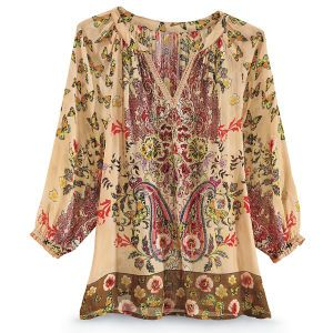 Embroidered Butterfly Top New Age Spiritual Gifts Yoga Wicca