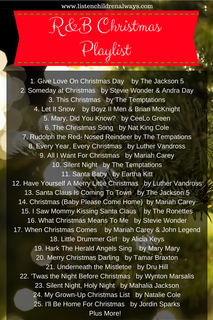 rb christmas music playlist listenchildrenalwayscom christmas playlist spotify