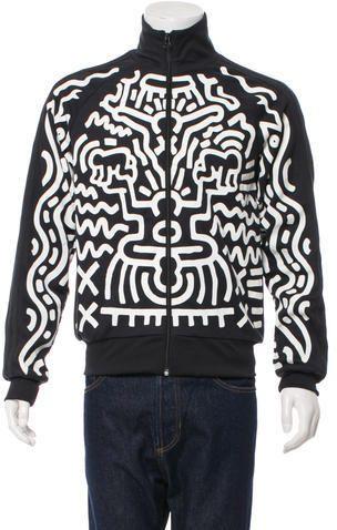finest selection 98565 1dcd4 Jeremy Scott x Adidas Graffiti Print Track Jacket