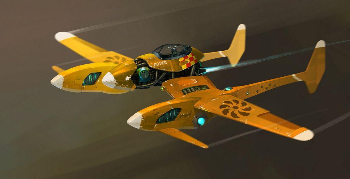 Yellow concept. | Concept ships, Sci fi