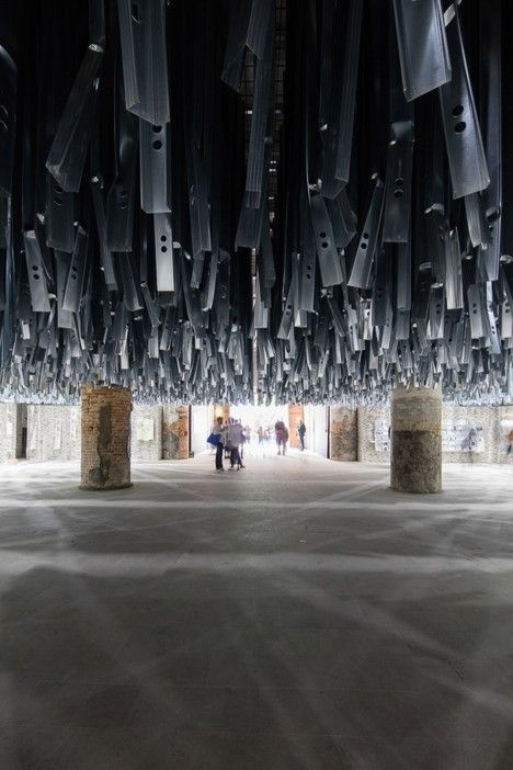 Venice Architecture Biennale 2016: Chilean architect Alejandro Aravena has used over 90 tonnes of waste generated by the Venice Art Biennale 2015 to create two introductory rooms for this year's architecture event