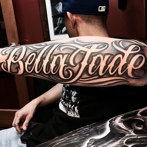 From Names To Quotes Discover The Top 75 Best Tattoo Lettering Designs For Men