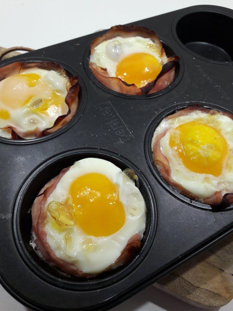 Betere Makkelijke eitje met ham uit de oven | Ontbijt eten recepten, Eten PF-84