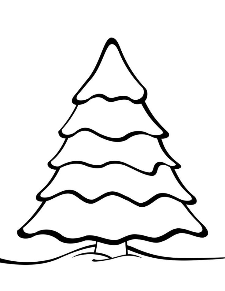 Free Printable Christmas Tree Templates Christmas Tree Template Christmas Tree Coloring Page Free Christmas Printables