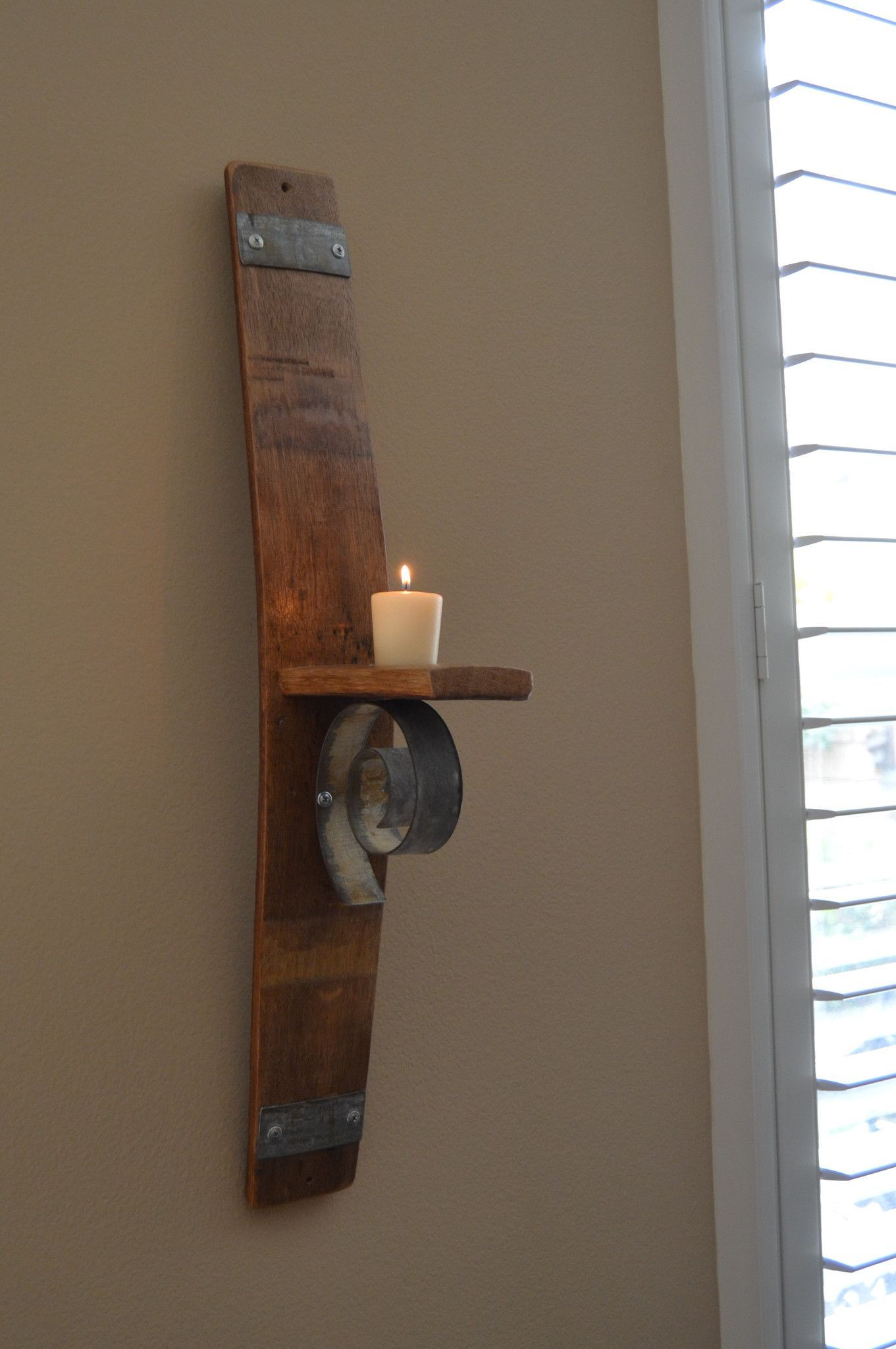 Deco Tonneau De Vin stave scroll sconce   décoration maison, bricolage et