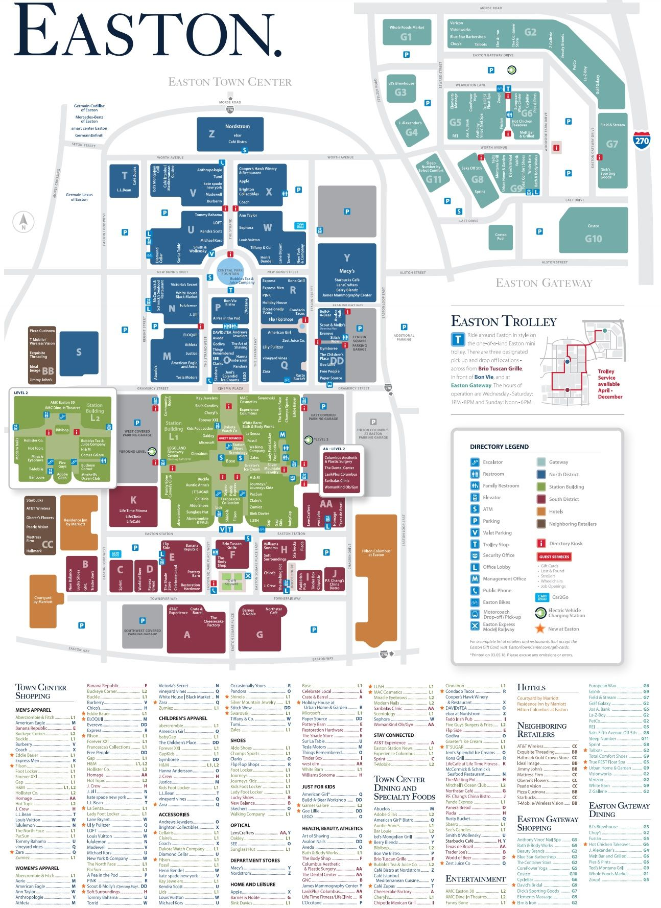 Easton Mall Map Easton Town Center shopping plan | Mall maps in 2019 | Easton town