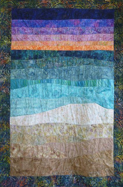 beach quilt ocean