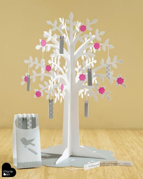 Une alternative au livre d or l arbre voeux temps perdu pinterest le livre - L arbre a souhait ...